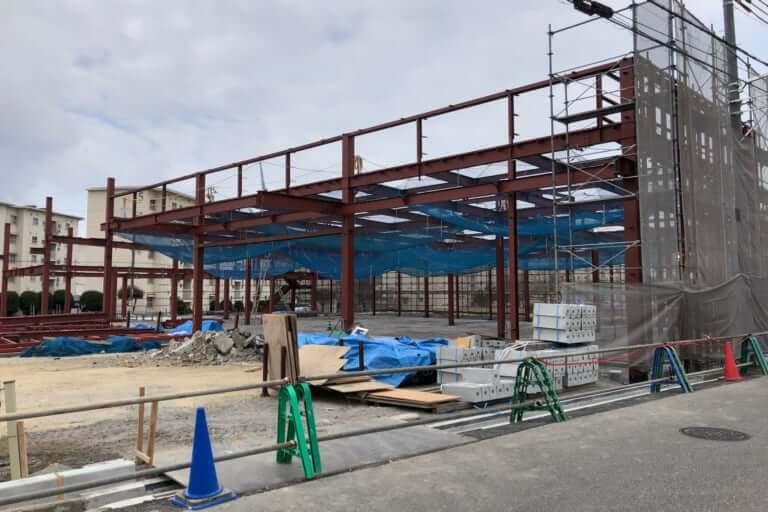 【加古川市】形が成ってきましたよ、4月オープン予定のマックスバリュ